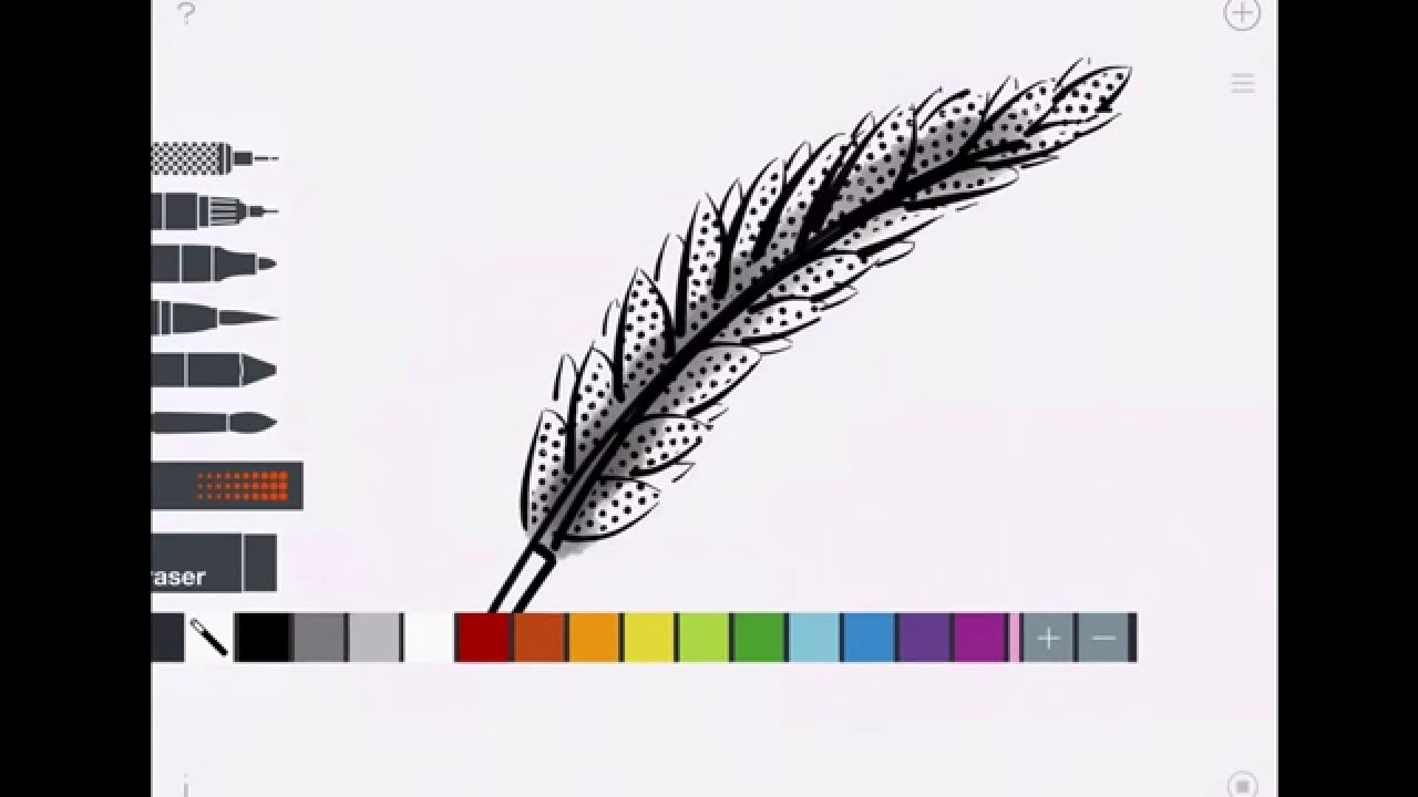 Feather drawing on sketches app youtube