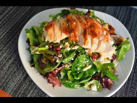 Chicken, Cranberry, & Almond Salad Recipe With Citrus Champagne Vinaigrette |Cooking With Carolyn