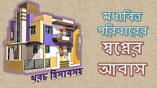 ৪ শতক জায়গায় ৪ রুমবিশিষ্ট বাড়ি তৈরির ডিজাইন | modern house plan and design | Bangladesh
