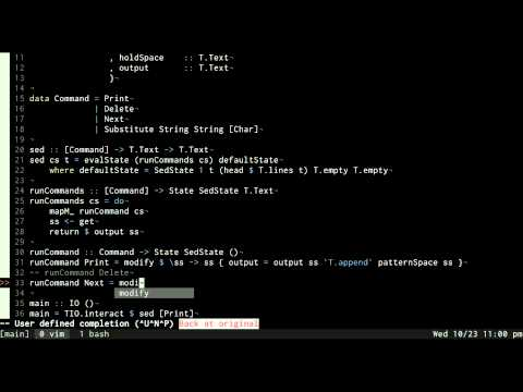 Sed implementation in Haskell - Episode 2