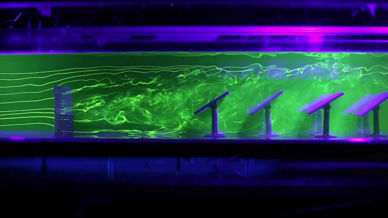 Flow visualization testing of a heliostat field behind a ...