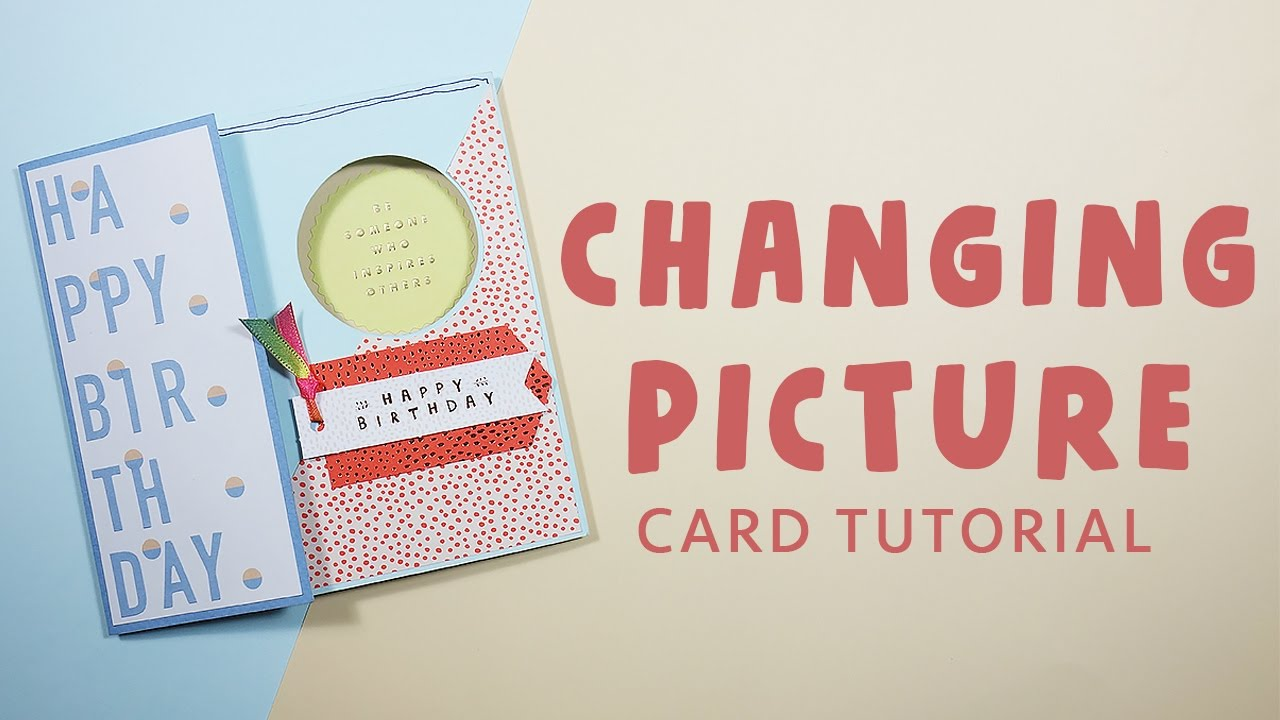 (Eng sub) How to make changing picture card tutorial | Let's craft by Anny!