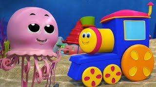Боб поезда Замечательный мир моря Россия детская песня Bob Train Rhymes Wonderful World Of The Sea