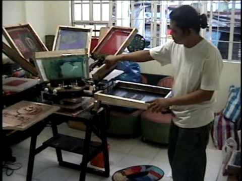 For Sale 6 Arm Silkscreen Machine Youtube