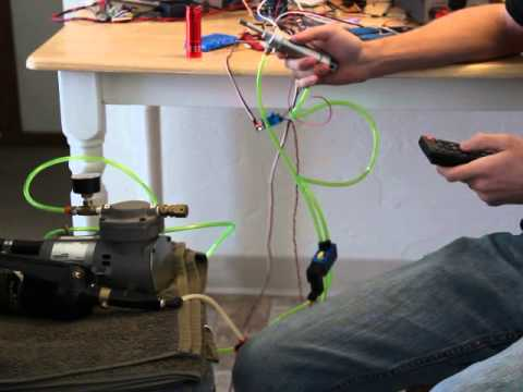 Pneumatic IR Actuator Arduino Project