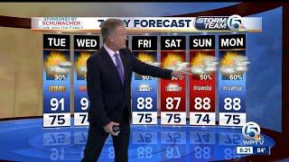 Latest Weather Forecast 6 p.m. Monday