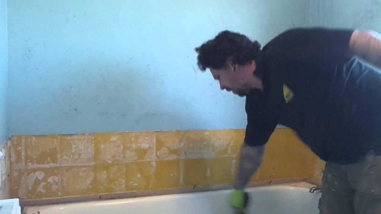 Quickest cast iron bath smash - YouTube