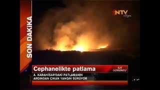 Afyonkarahisar'da Askeri Cephanelikte Patlama 25 Şehit, 4 Yaralı