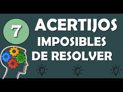 7 Acertijos Imposibles De Resolver Agilidad Mental Youtube