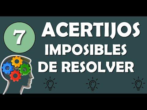7 Acertijos Imposibles De Resolver Agilidad Mental Youtube