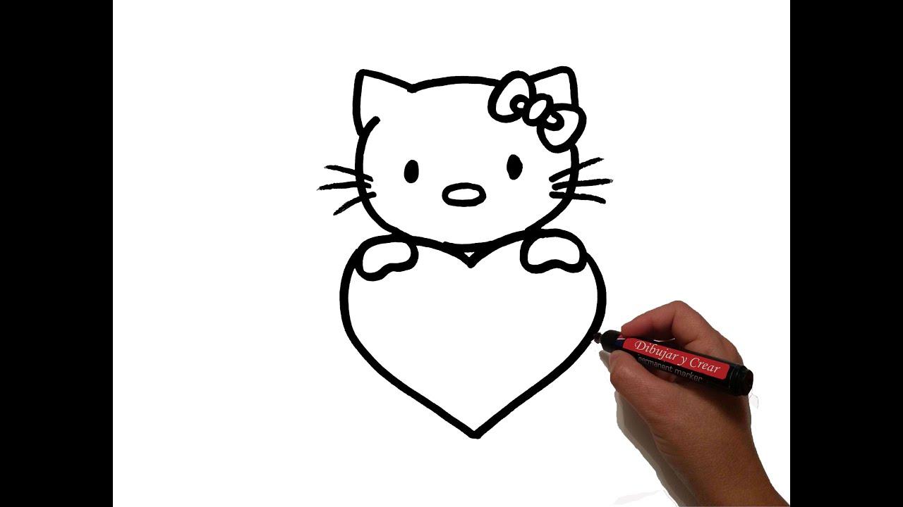 Dibujos De San Valentín: Como Dibujar Hello Kitty Corazon San Valentin