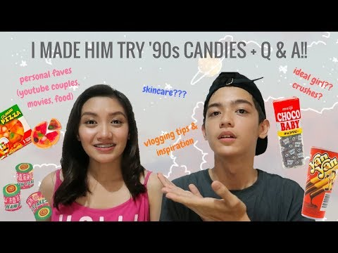 I MADE MARK REYES TRY '90S CANDIES + Q&A | Mayie Mapili