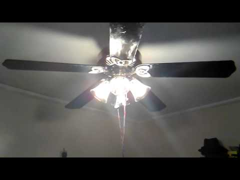 Hampton Bay Huntington Iii Ceiling Fan With Black Blades