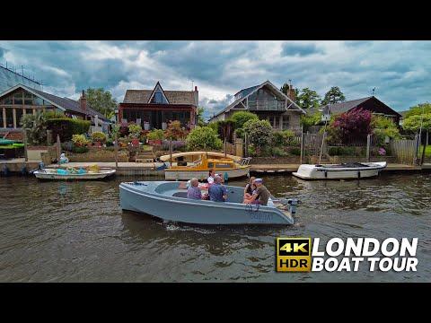 LONDON River Thames cruise ⛴ from Hampton Court to Richmond passing beautiful riverside properties