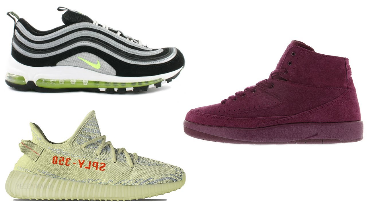 premium selection 1d3c5 95114 Nike Air Max 97 NEON, Air Jordan 2 Deconstructed BORDEAUX, YEEZY 350 V2  SEMI FROZEN YELLOW and More