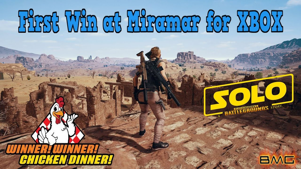 PUBG First SOLO Win at Miramar for xbox - Desert Map