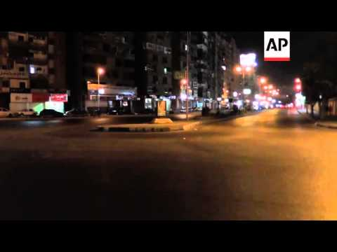 Curfew takes affect on the streets of Egypt's second city