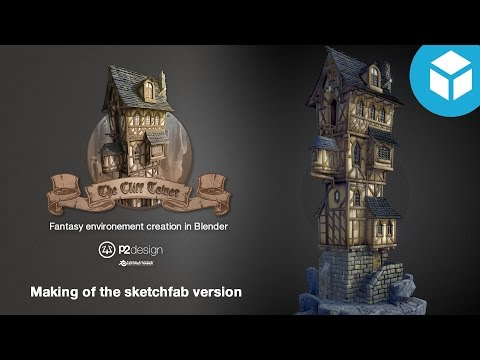 P2DESIGN Making of the cliff tower on sketchfab