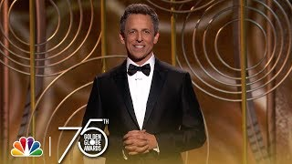 seth meyers golden globes mono