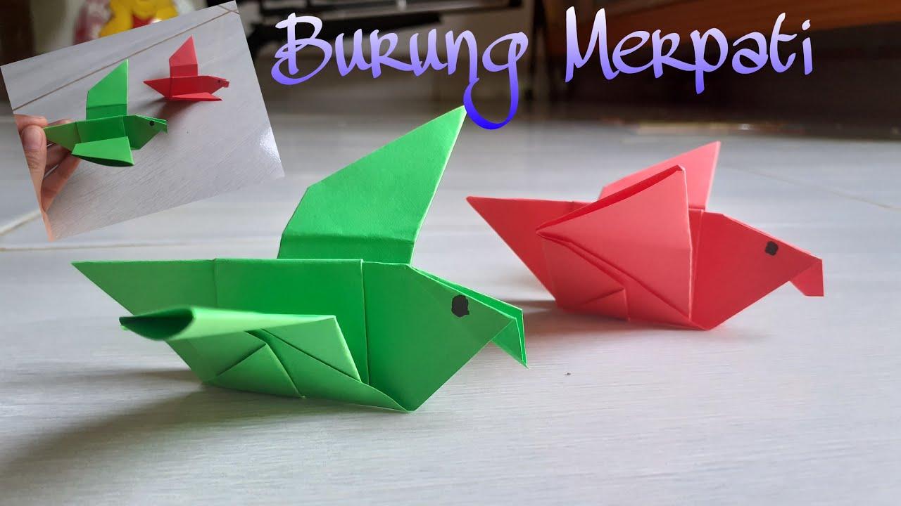 DIY || Cara Membuat Burung dari Kertas Origami - YouTube