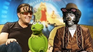 Ricky Gervais vs Rozzi the badrat! Ty Burrell,Kermit,Miss Piggy,Daniele Rizzo MUPPETS MOST WANTED