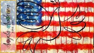American Flag Acrylic Painting Tutorial | Free How to Paint 4th of July Patriotic Art(, 2016-06-25T20:28:38.000Z)