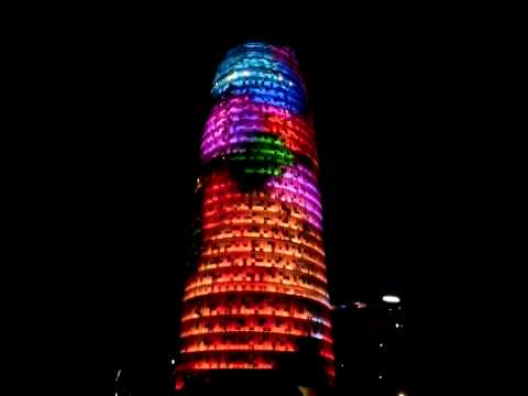Cap d'Any 2014 New Year's Eve 2014 Torre Agbar