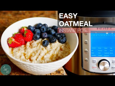 Easy Oatmeal Using Instant Pot