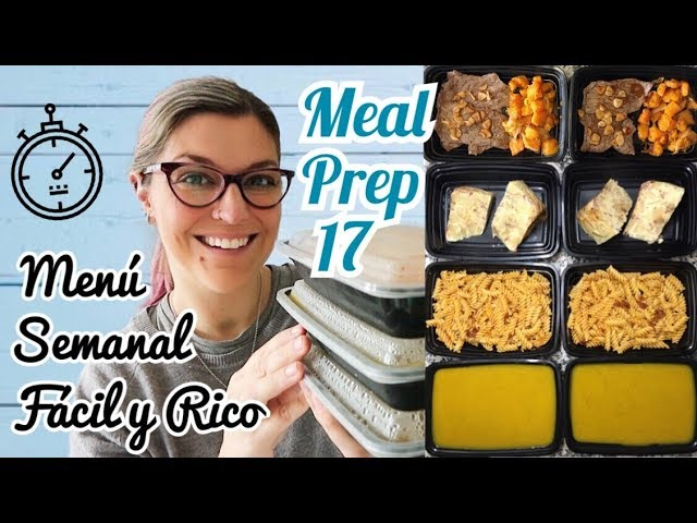 Meal Prep *COCINA UN DIA PARA TODA LA SEMANA *Menú Semanal Saludable* BATCH COOKING ESPAÑOL