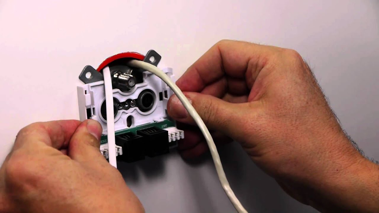 How To Install Tv Sat Outlet Incl Phone And Internet Youtube Telephone Wall Socket Wiring Uk