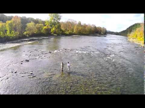 Fly Fishing The White River. Sharon, Vermont