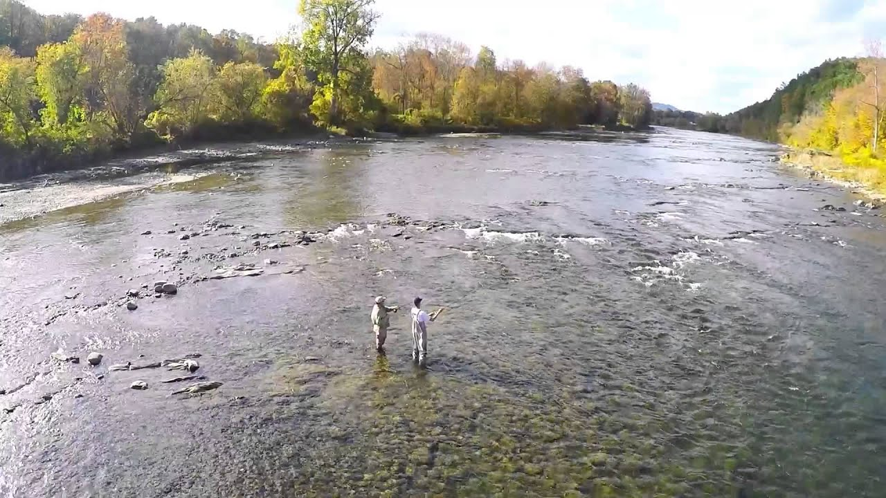 Fly fishing the white river sharon vermont youtube for White river fishing