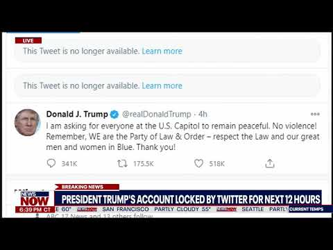 BREAKING: Twitter Locks Trump's Account for 12 Hours