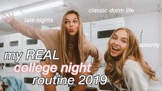 my REAL college night routine 2019