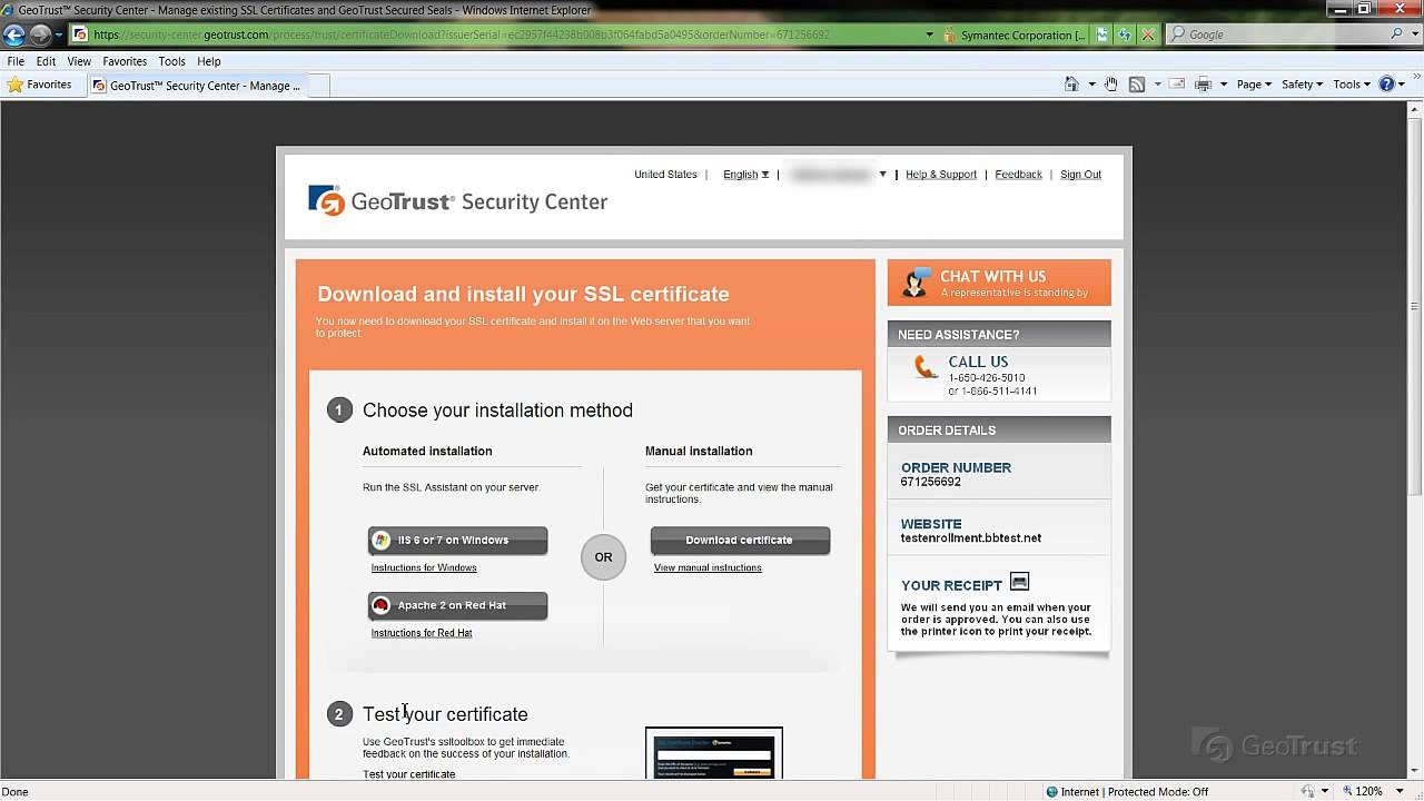 Guide on downloading a ssl certificate in the geotrust ssl guide on downloading a ssl certificate in the geotrust ssl security xflitez Images