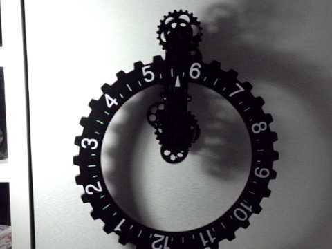 mechanical gear wall clock black by youtube