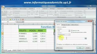 Excel : Fonction BDLIRE()