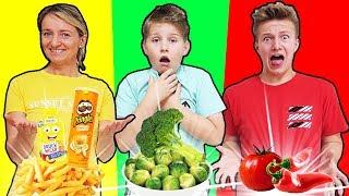 24 Stunden nur DIE FARBE essen die DU TRÄGST 🤣 KRASS TipTapTube