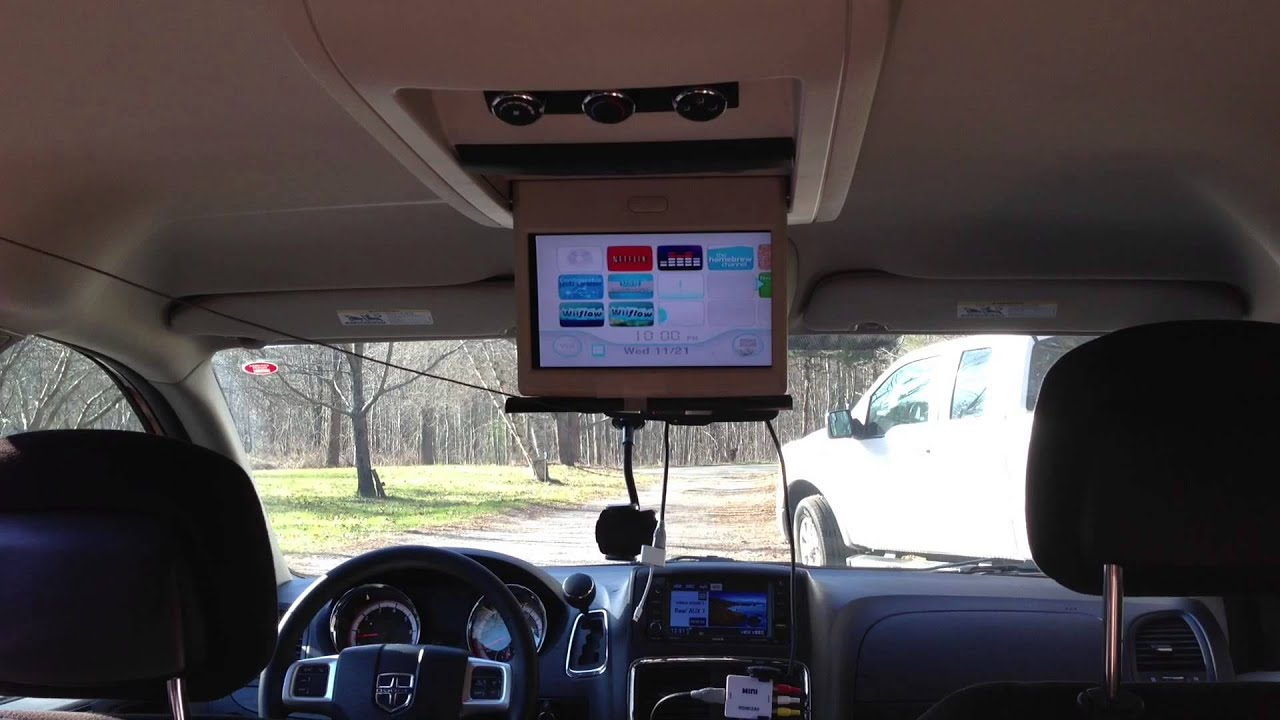dvd player wiring diagram hacked wii in the car youtube  hacked wii in the car youtube