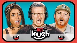 YouTubers React To Try To Watch This Without Laughing or Grinning #7