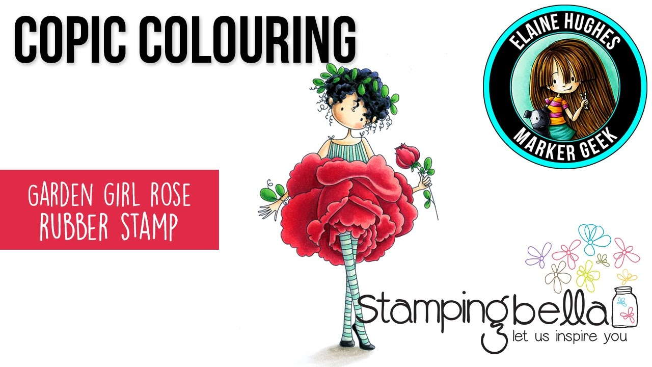 Copic Coloring Stamping Bella 2017: Tiny Townie Garden Girl Rose ...