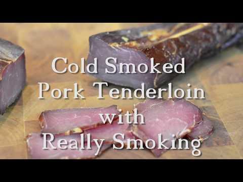 Cold Smoked Pork Tenderloin ... Best Pork Snack ... by Really Smoking