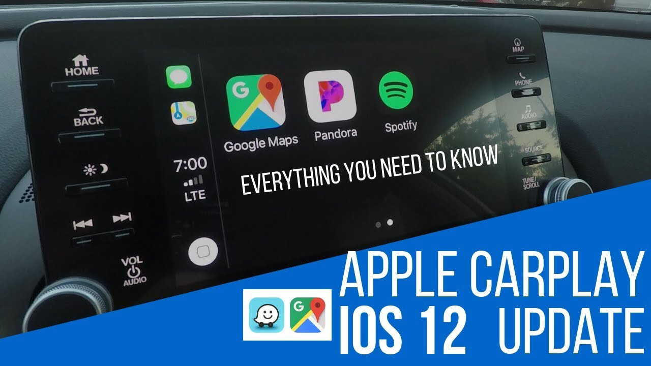 APPLE CARPLAY UPDATE IOS 12 | GOOGLE MAPS, WAZE AND MORE!