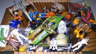 What's in the box: Random STAR WARS Toys!  Figures, Vehicles and more