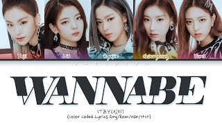 "Gambar cover ITZY (있지) ""WANNABE"" (Color Coded Lyrics Eng/Rom/Han/가사)"
