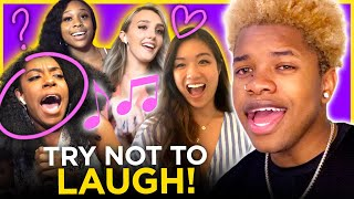 Nathan Davis Jr. picks up girls with his SINGING VOICE CHALLENGE | Date Drop
