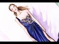 Fashion Illustration - Marchesa resort 2017 | Nina Mid Illustrations