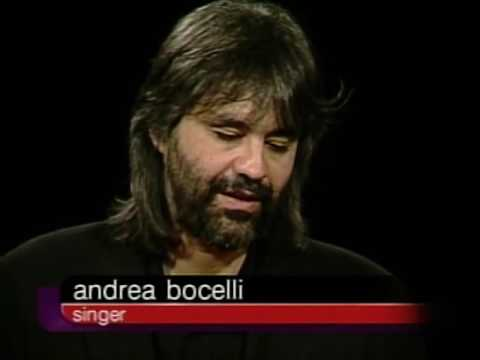 Andrea Bocelli Job İnterview On Charlie Rose 2000 & Andrew Collins Talks