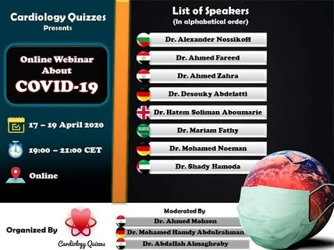 Cardiology Quizzes online Webinar about COVID-19-Day 1 #cardiology