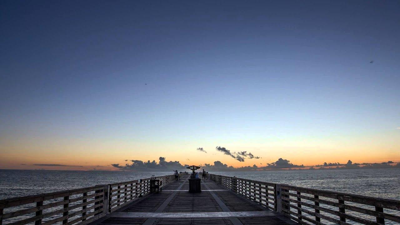 Jacksonville Beach Fishing Pier Sunrise Youtube